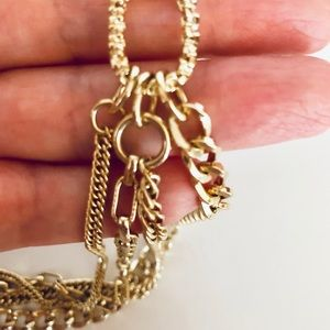 Beautiful Gold Tone Necklace with black detail.
